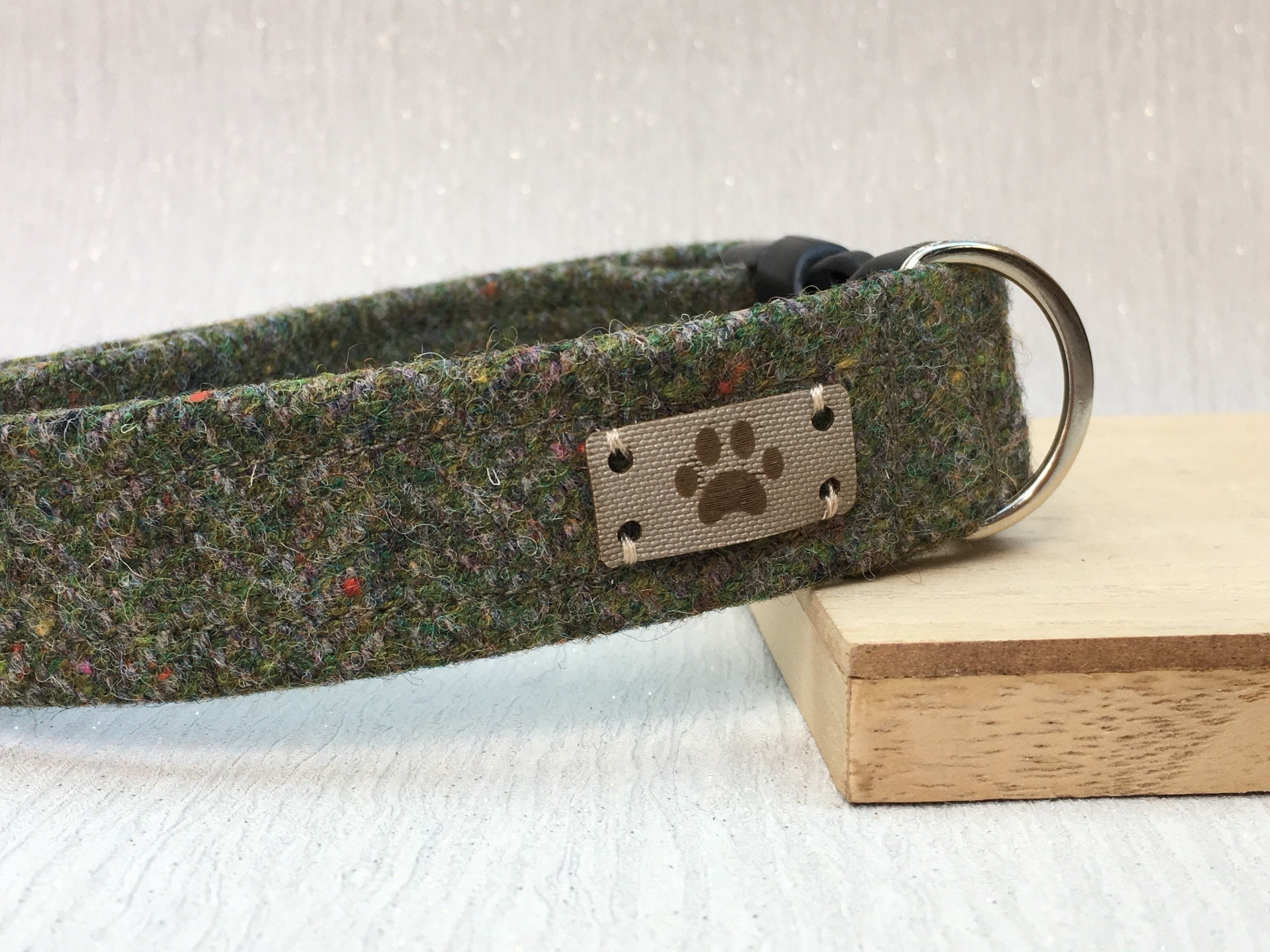 57bb6c68cb06 Green Donegal Tweed, Dog Collar, Irish Tweed Dog Collar, Adjustable Collar,  Dog Accessory, Handmade Collar, Country Chic Dog, Gift for dogs
