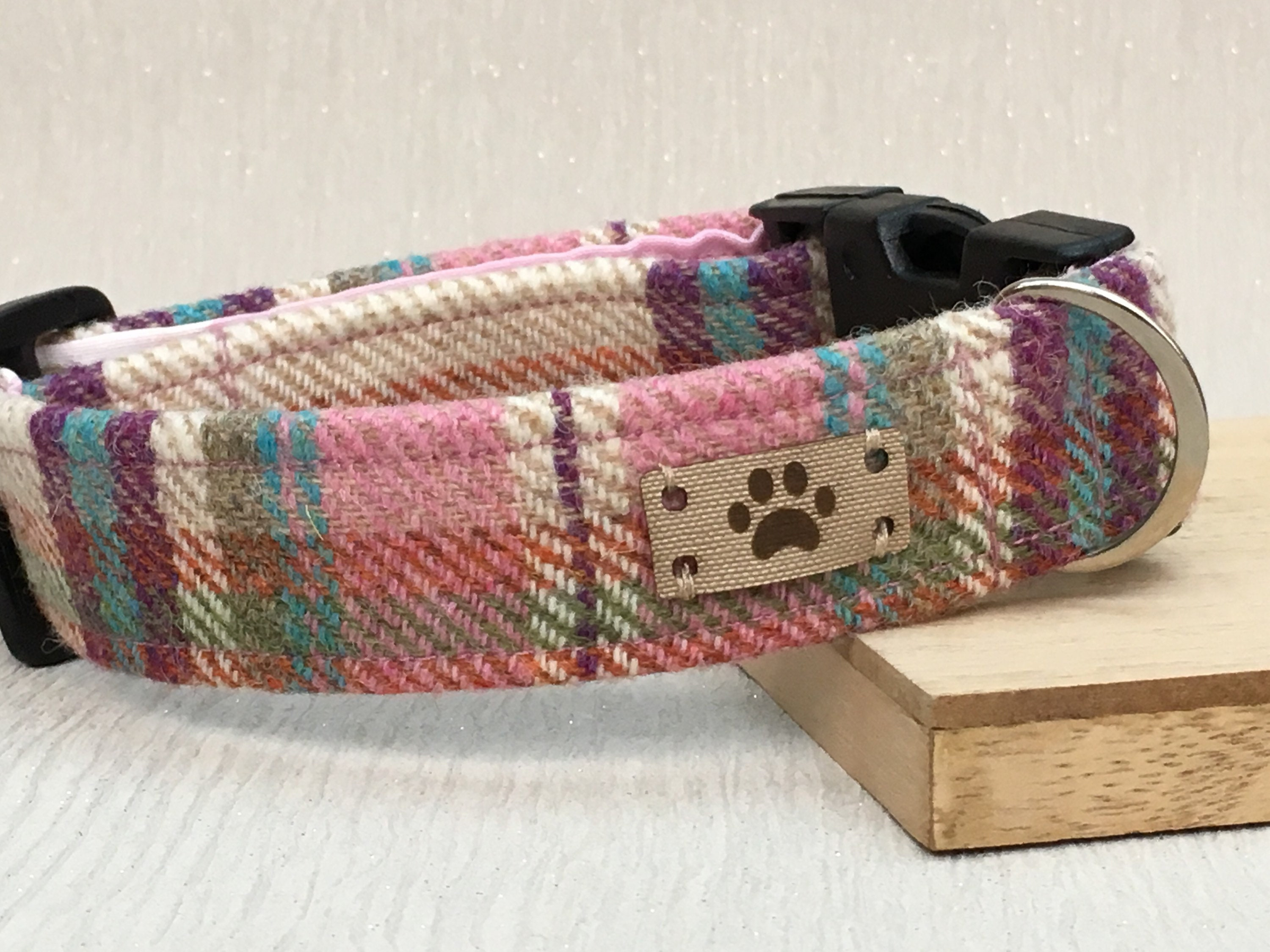 a623963c2793 Pink and Purple Tweed Dog Collar, Female Dog Collar, Best Seller ...