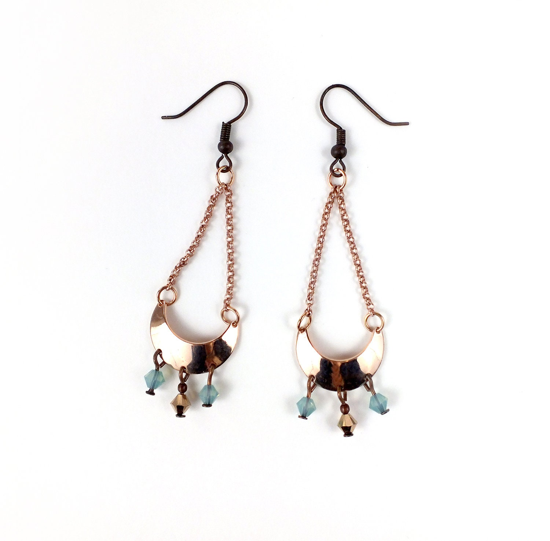 82c808f86 Earrings 'Cadence' Rose gold tone Swarovski | Etsy