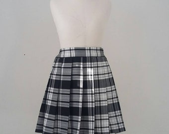 037e6a429 ALL ROUND pleated Tartan Skirt with Back Zip Mini/Short