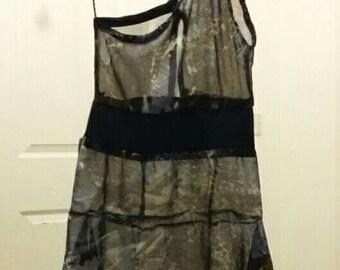 Ladies One-Sleeve Summer/beach/Casual Dress