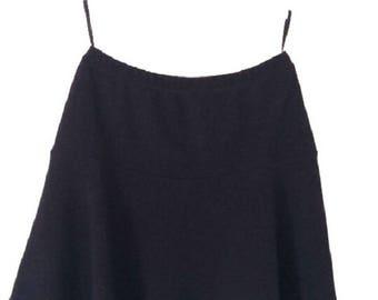 Ladies Flared Black Stretchy Mini Skirt