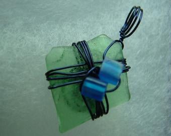 Petite and Adorable Popham Beach Sea Glass Pendant