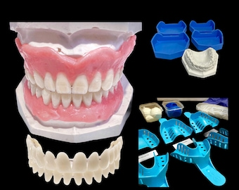 Full DIY Denture_ Partial Denture Kit  DIY Denture Deluxe Kit Dental Impression Putty With Casting Stone