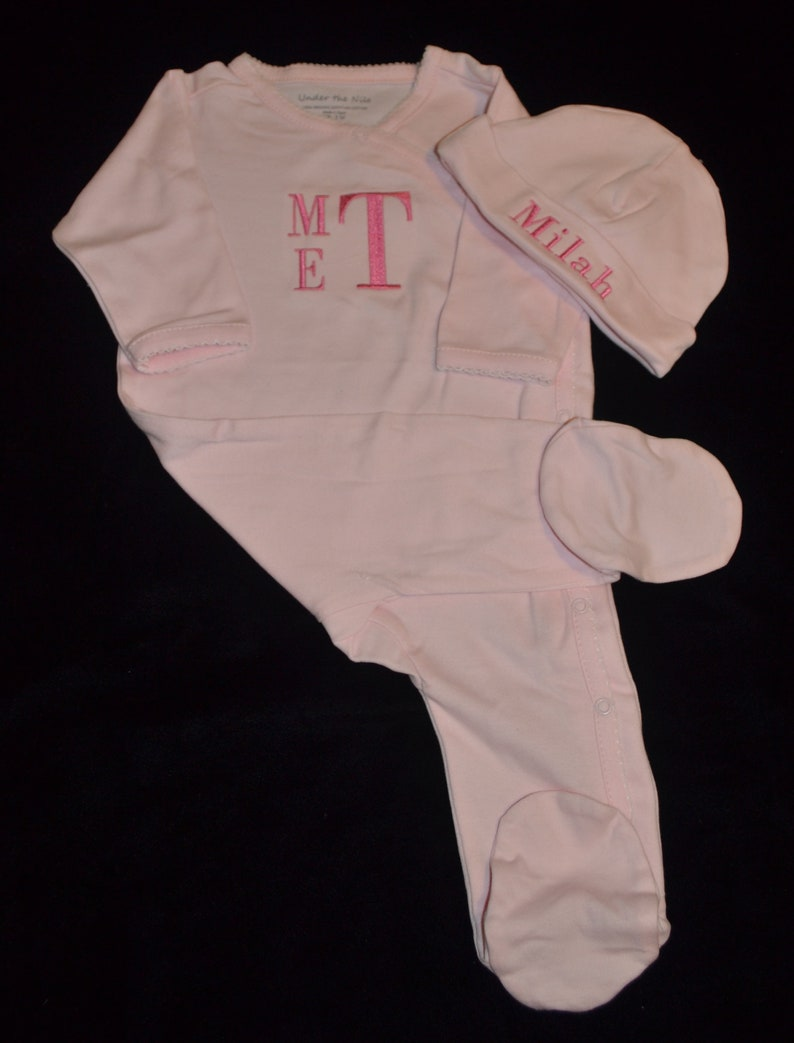 Going Home Outfit-Newborn Baby Shower Gift Organic Eqyptian Cotton Footed Coverall-Gender Neutral Outfit-Coming Home Outfit