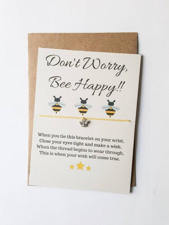 Your The Bee/'s Knees Wish Bracelet Friendship Bracelet Bee Jewellery Keepsake