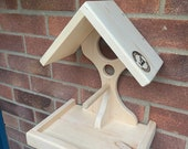 Solid Wood Handcrafted Bird Table Bird Feeder for garden birds