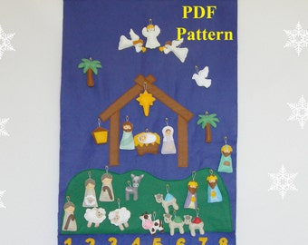 Nativity Advent Calendar Etsy