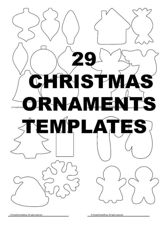 image 0 - Christmas Ornaments Templates PDF Instant Download DIY Etsy
