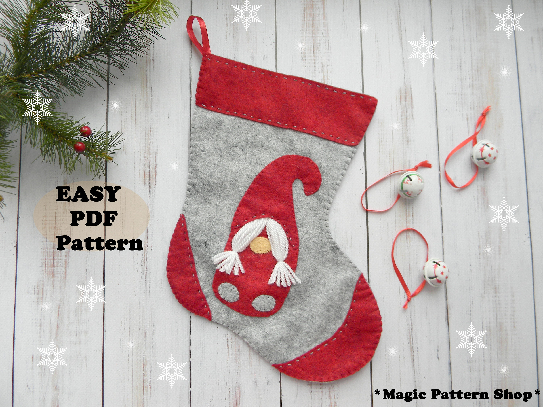 Scandinavian stocking pattern Christmas stocking PDF Pattern | Etsy