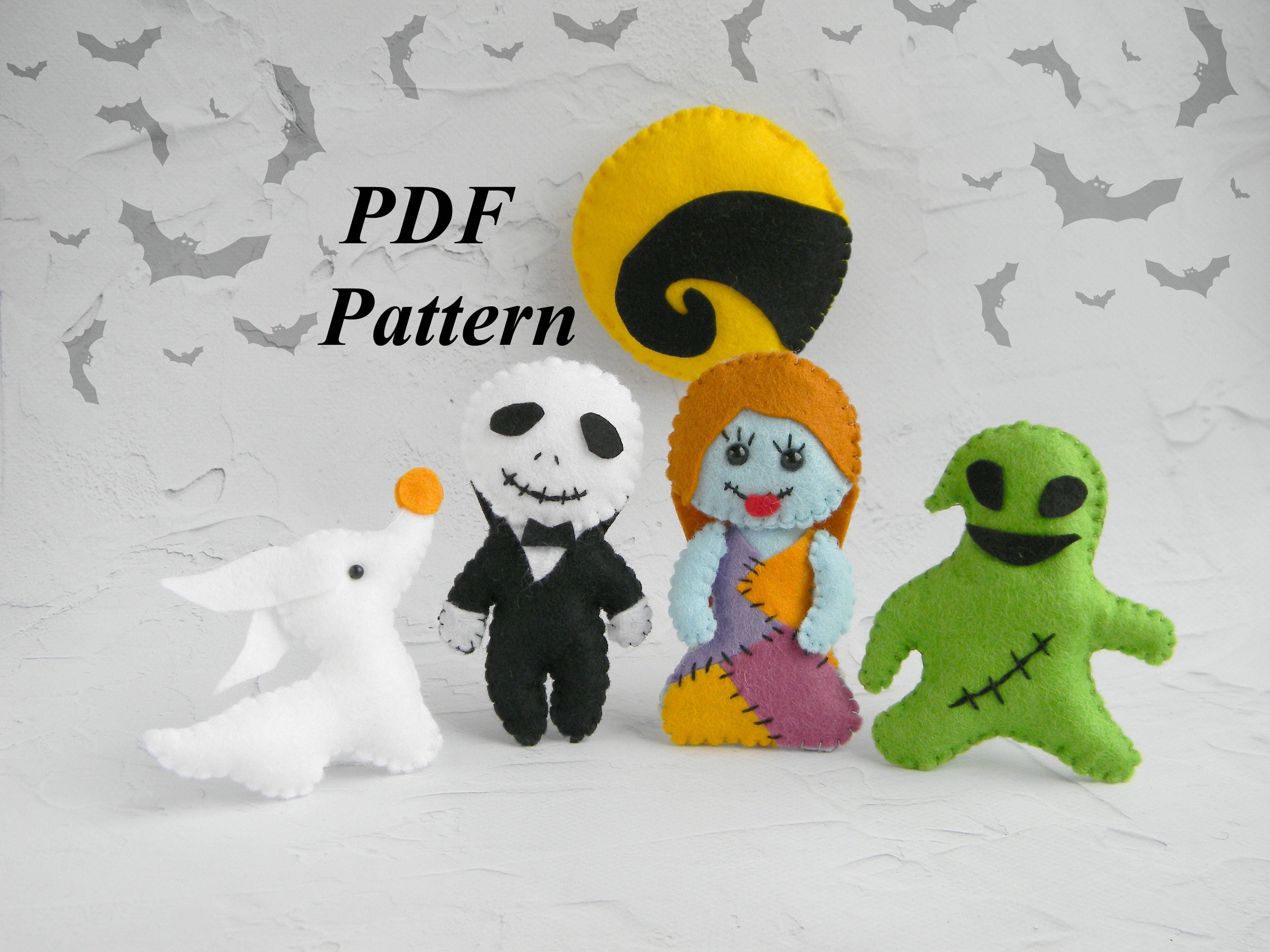 Halloween felt pattern Nightmare Before Christmas ornament | Etsy