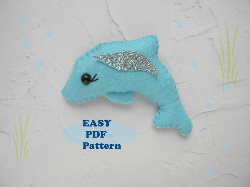 Dolphin PDF Pattern Felt Sewing Plushe