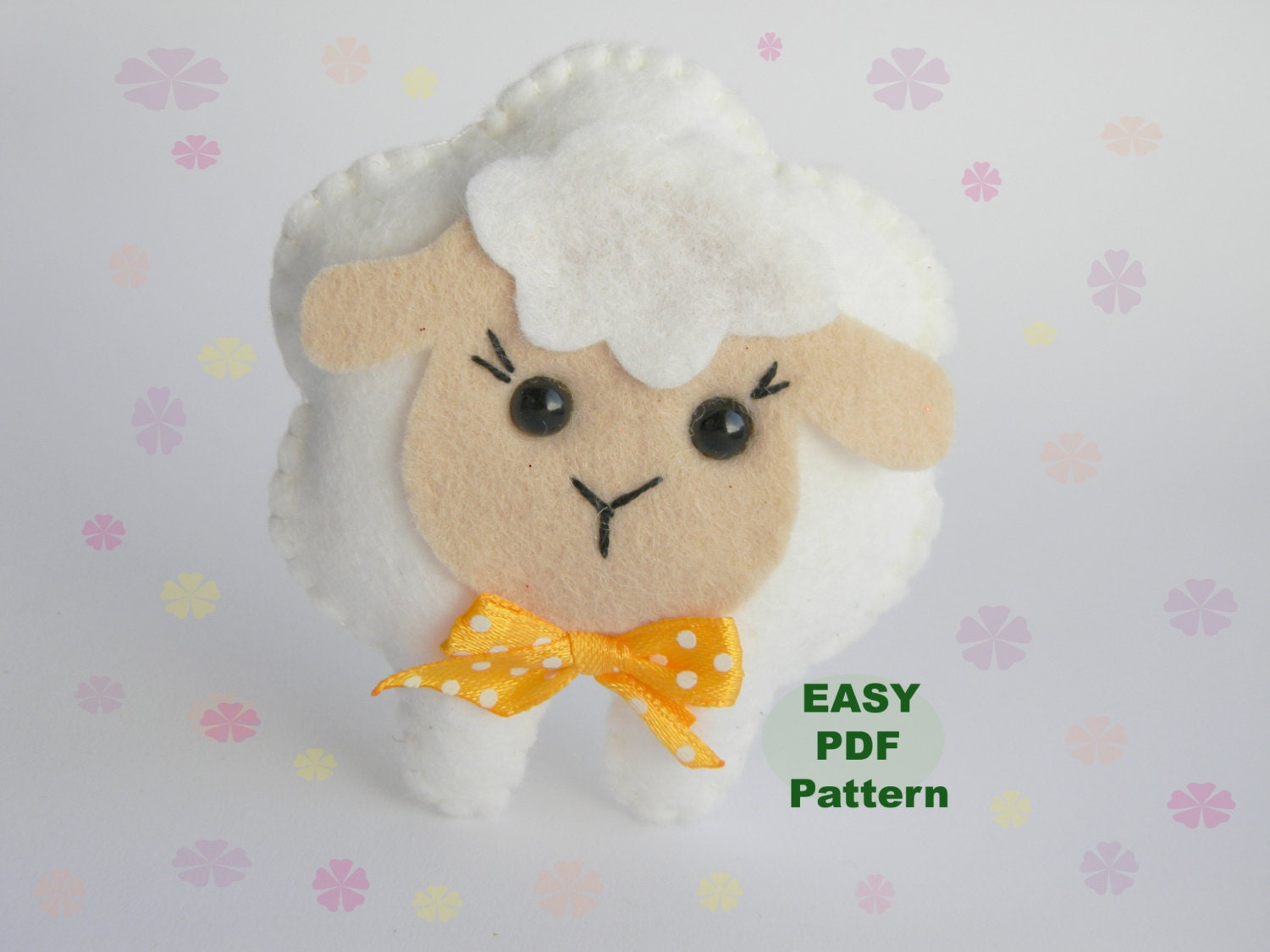 PDF Felt Sheep pattern sewing pattern Cute Lamb toy Farm | Etsy