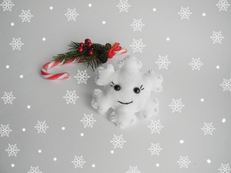 PDF pattern felt snowflake Easy christmas snowflake ornaments pattern  Easy sewing pattern  Diy  advent ornament Beaded  ornament Pattern