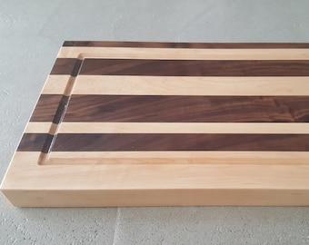 Rock Maple and Walnut Cutting Board 20x12