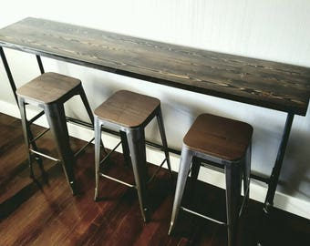 Charming Industrial Pipe Bar Table, Benson Edition