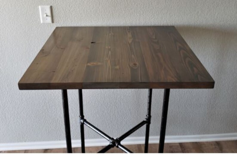 Cross Edition Industrial Pipe Bar Table