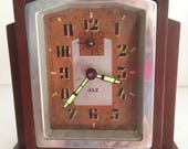 FREE SHIPPING fabulous 1930 Art Deco clock by JAZ french clock maker