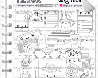 Office Stamps Commercial Use Digi Stamp Digital Image Stuff Digistamp Coloring Page Cute