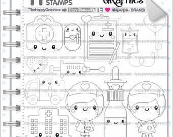 Nurse Stamp Commercial Use Digi Digital Image Digistamp Hospital Medical Digistamps Health