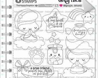 Dog Memorial Stamp COMMERCIAL USE Digi Digistamp Kawaii Heaven Prying Humans And Dogs Pet Loss