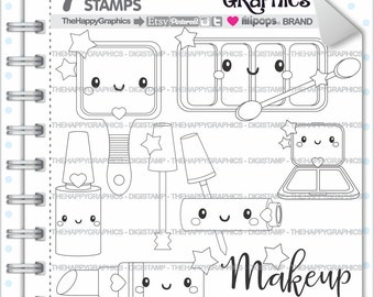 Makeup Stamp Commercial Use Digi Digital Image Digistamp Beauty Spa Salon