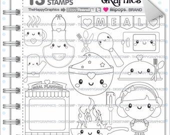 Meal Stamp Commercial Use Digi Digital Image Digistamp Kitchen Food Digistamps Cooking