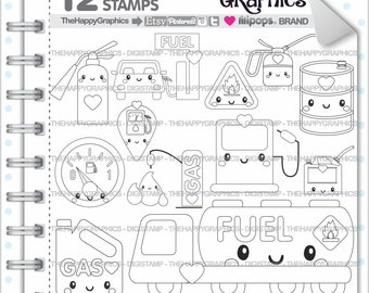 Gas Stamp Commercial Use Digi Digital Image Digistamp Pump Educational Graphics Cute