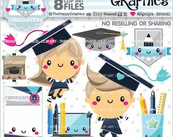 Graduation Clipart, 80%OFF, Graduation Graphics, COMMERCIAL USE, Graduation Party, Planner Accessories, School, College, High School