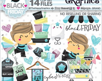 Shopping Clipart, 80%OFF, Shopping Graphics, COMMERCIAL USE, Black Friday, Shop Graphics, Shopping Boy, Store, Shopping Day, Cyber Monday