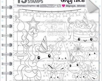 Unicorn Stamp, 80%OFF, COMMERCIAL USE, Digi Stamp, Digital Image, Unicorn Digistamp, Unicorn Coloring Page, Unicorn Graphic, Printable,