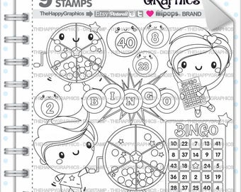 Bingo Stamp 80OFF Commercial Use Digi Digital Image Digistamp Game Lucky Casino Clipart Fun