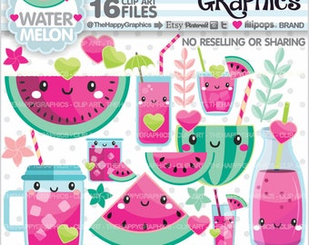 Watermelon Clipart, 80%OFF, Watermelon Graphics, COMMERCIAL USE, Watermelon Party, Summer Clipart, Tropical Clipart, Summer Party