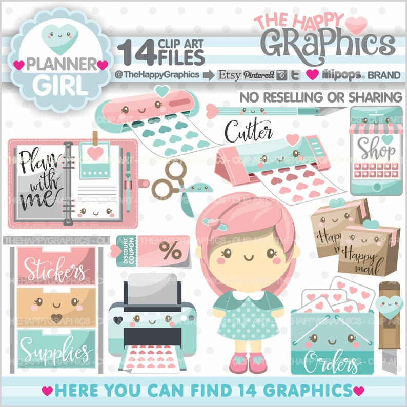 Planner Clipart Planner Graphic COMMERCIAL USE Planner image 0