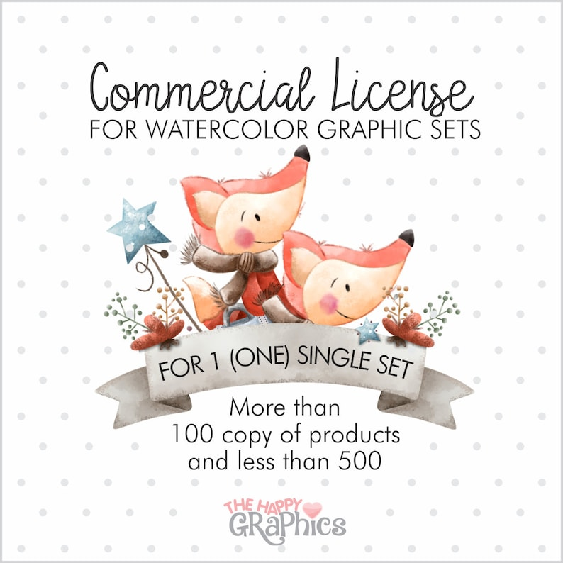 Watercolor Commercial License Commercial Use License image 0