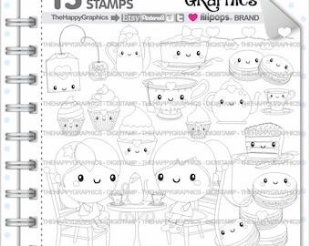 Tea Stamp, 80%OFF, COMMERCIAL USE, Digi Stamp, Tea Digistamp, Kawaii Stamps, Tea Party Digistamp, Tea Digital Stamp, Tea Time Digistamp