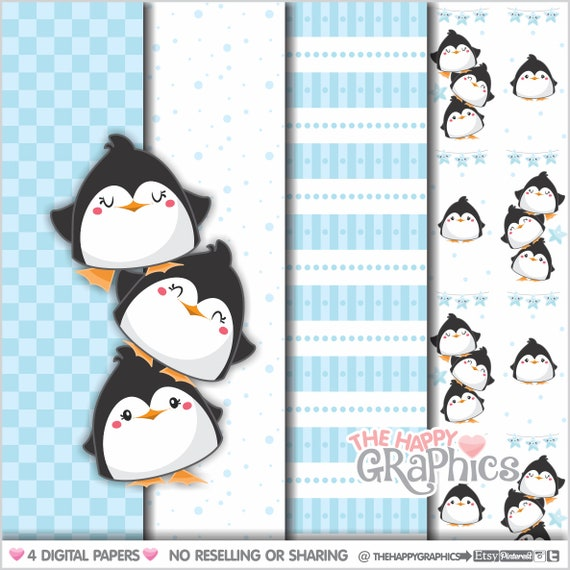 photograph about Penguin Patterns Printable known as Penguin Electronic Paper, Professional Employ, Penguin Practice