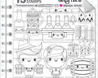Oktoberfest Stamp, 80%OFF, Commercial Use, Digi Stamp, Digital Image, Beer Digistamp, October Party, Festival Stamp, Germany Stamp, Cute
