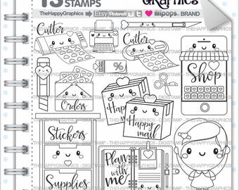Planner Girl Stamps 80OFF Commercial Use Digi Stamp Digital Image Planning Digistamp Coloring Page Cliparts