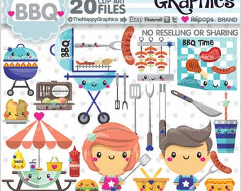 Bbq Clipart, 80%OFF, Bbq Graphics, COMMERCIAL USE, Planner Accessories, Barbecue Clipart, Summer Clipart, Grill Clipart, Picnic, Kawaii