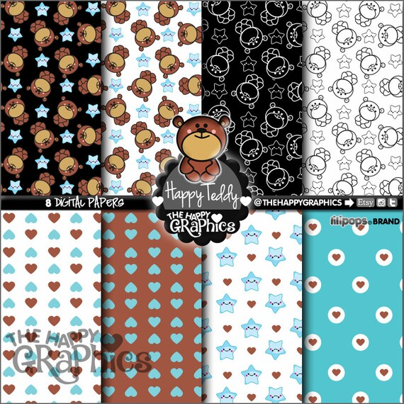 Baby Digital Paper Commercial Use Printable Paper Baby Pattern