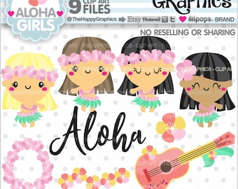 Summer Clipart, 80%OFF, Summer Graphics, COMMERCIAL USE, Aloha Cliparts, Hula Clipart, Hawaii Clip Art, Dancer Clipart, Kawaii Clipart, Cute