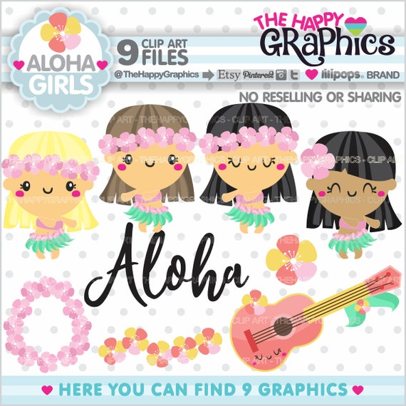 Summer Clipart, Summer Graphics, COMMERCIAL USE, Aloha Cliparts