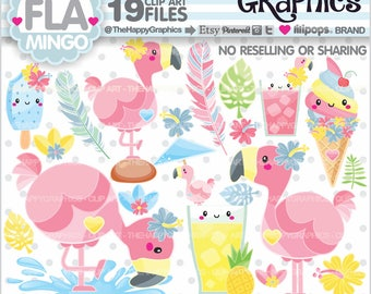 Flamingo Clipart, 80%OFF, Flamingo Graphics, COMMERCIAL USE, Flamingo Party, Flamingo Illustration, Flamingo Party, Summer Clipart