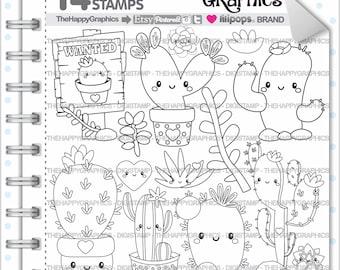 Cactus Stamp 80OFF COMMERCIAL USE Digi Digital Image