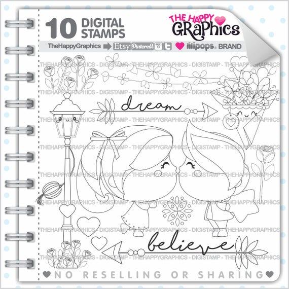 Love Stamps Commercial Use Digi Stamp Digital Image