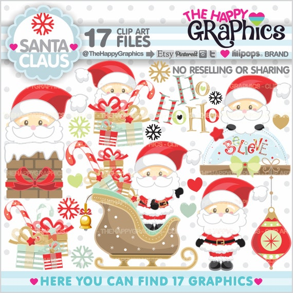 Santa Claus Clipart Christmas Clipart Commercial Use Noel Clipart Noel Graphics Christmas Clip Art Santa Claus Clip Art Christmas By Thehappygraphics Catch My Party