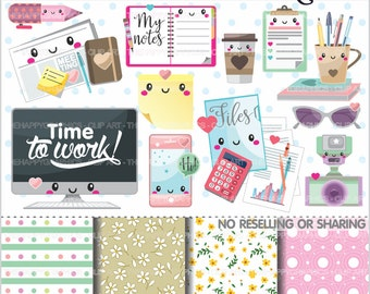Office Stuff Clipart, 80%OFF, Office Stuff Graphics, COMMERCIAL USE, Office Supplies, Planner Accessories, Office Things, Meeting
