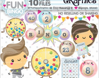 Bingo Clipart, 80%OFF, Bingo Graphics, Commercial Use, Bingo Party, Game Clipart, Casino Clipart, Lucky Clipart, Lottery, Balls, Lotto