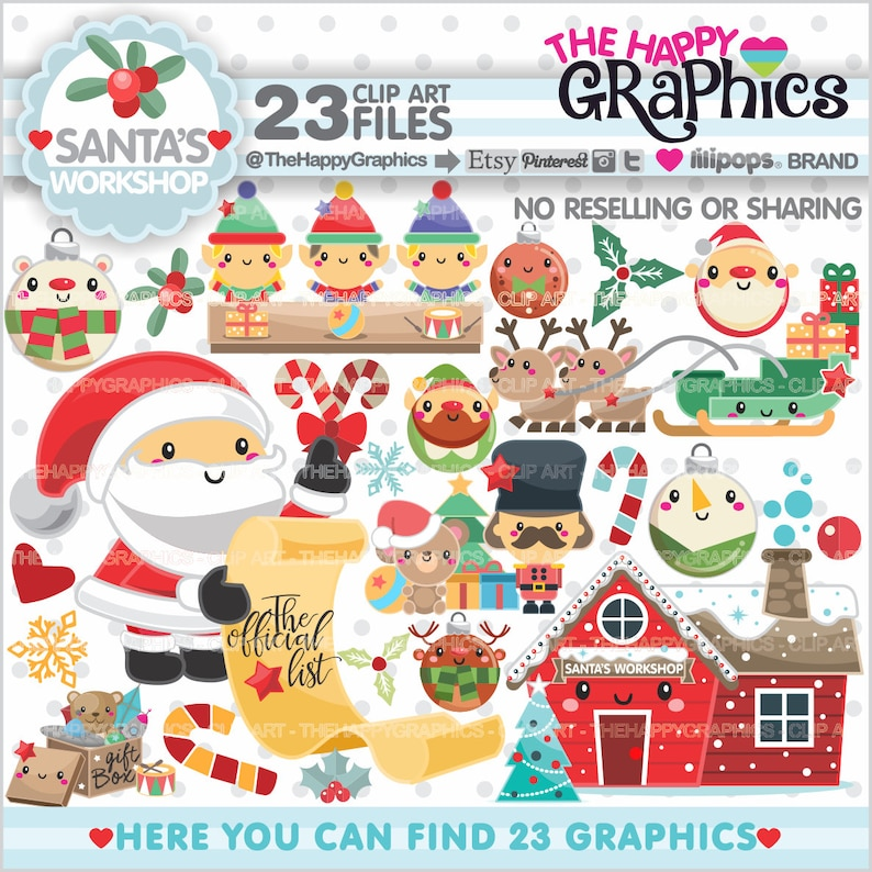 Christmas Clipart Christmas Graphics COMMERCIAL USE image 0